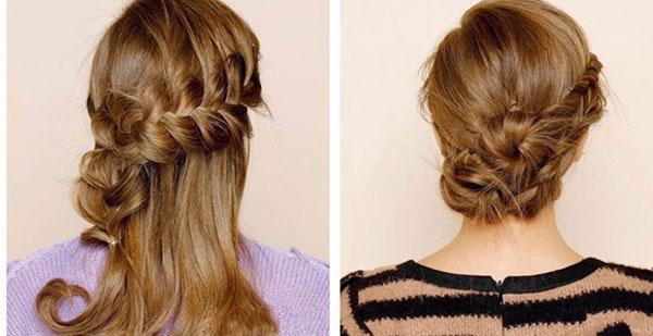 Tết tóc là cách tạo kiểu tóc xoăn khá dễ dàng