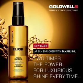 Tinh dầu dưỡng tóc Goldwell Elixer Argan Tamanu của Đức