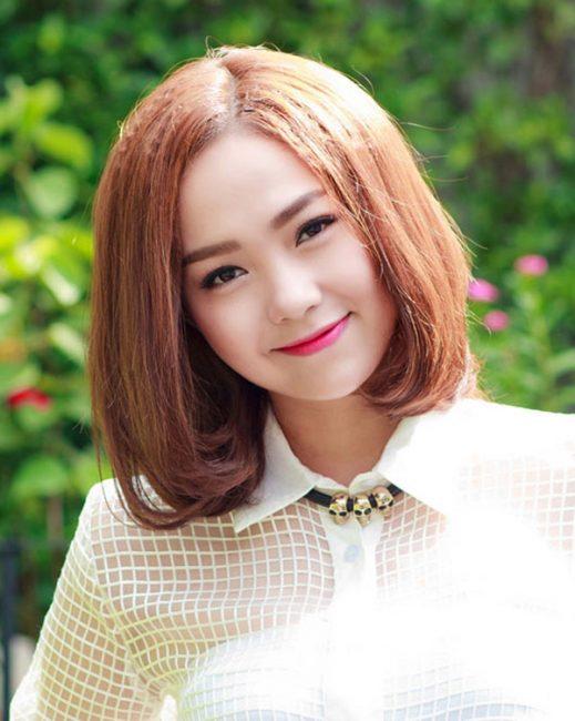 Tút nhan sắc cùng kiểu tóc ngang vai Hàn Quốc cực chuẩn