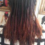 tóc hư tổn do bấm phồng và nhuộm