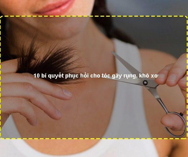 10 bí quyết phục hồi cho tóc gãy rụng, khô xơ