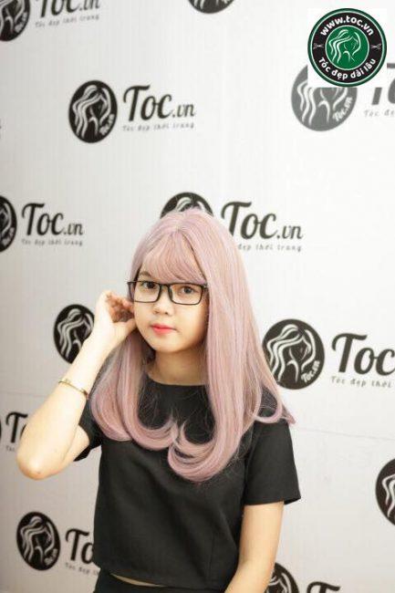 Mẫu tóc tẩy dài đẹp cho con gái