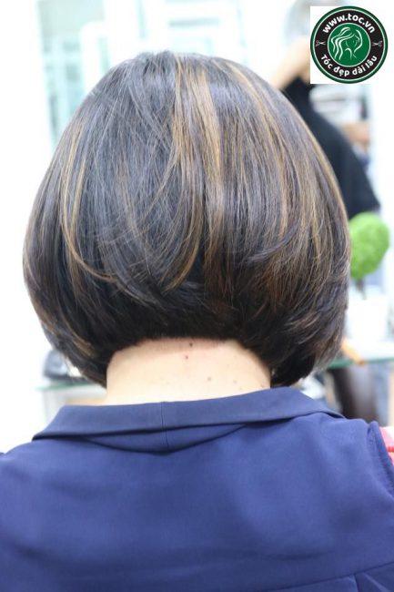 Nhuộm highlight cho tóc ngắn