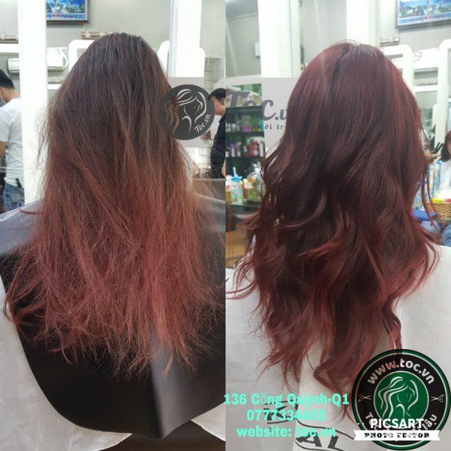 Cách dưỡng uốn tóc bị khô