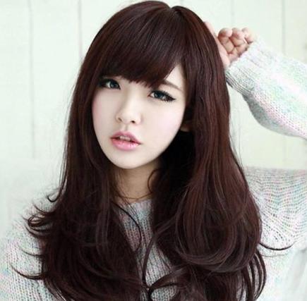 Kiểu tóc dài đẹp mái phồng