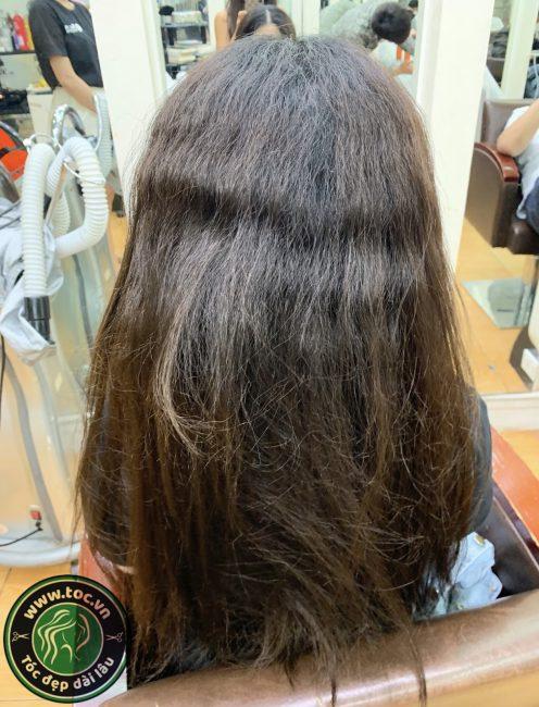 khắc phục tóc hư tổn do duỗi tóc